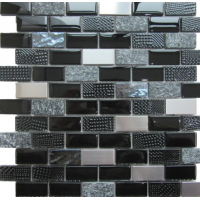 Altea Black Glass/Stone/Metal Mosaic 30CM x 30CM